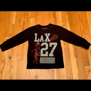 Wes & Willy LAX Black Long Sleeve Shirt 3T